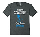 Mens Funny Scuba Diving Tee Shirt - I Pay For My Dives XL Dark Heather