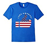 Mens I Like America thumbs up flag T-shirt XL Royal Blue