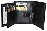 Mens Wallet - Ultra Soft (Handmade & Sheep Leather) Top Quality Genuine Leather Bifold Wallets for Men