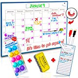 Monday to Sunday Monthly Magnetic Calendar Whiteboard - 16x12