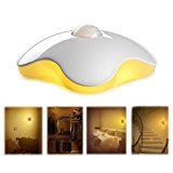 MoreFarther LED Sensor Night Light Intelligent Control (Butterfly - White)