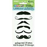 Mustache Temporary Tattoo Sheets, 4ct