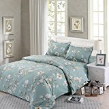 Nanko 3 Pieces Duvet Cover Set Printed Microfiber Comfortable Design