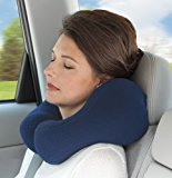 Navy Blue Ergonomic Travel Neck Pillow, Cervical Support (petite/small)