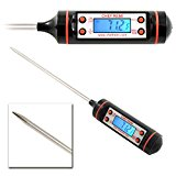 New Chef Remi Cooking Thermometer Now with Backlight - Lifetime Replacement Warranty - Instant Read - Best Digital Thermometer for Turkey, Meat, Oven, Oil, Grill, Smoker, BBQ, Kitchen, Candy and Food