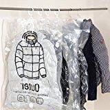 Noahfun 3 Pcs Hanging Garment Vacuum Storage Bag for Dresses(2xLarge 1xJumbo)