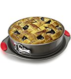 Non-Stick Springform Pan by Boxiki Kitchen | 2-in-1 Cheesecake Pans Spring Form and Cake Ring Mold | Leakproof Cake Pans with Silicone Handle Holders
