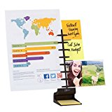 NoteTower Desktop Pro Black Note Organizer and Copy Holder - Holds and Displays Photos Sticky Notes Business Cards - Bonus 50 sheets 3x3 Sticky Notes