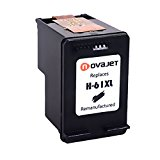 Novajet Remanufactured HP 61 XL Ink Cartridge CH563WN High Yield With Ink Level Used In HP Deskjet 1000 1050 1510 2510 2542 3050 3510 ENVY 4500 5530 5531 5539 Officejet 2620 2621 4630 4632 4635