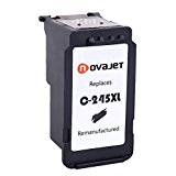 Novajet Remanufactured Ink Cartridge Replacement For Canon PG 245XL (Single Black) With Ink Level Indicator Used In Canon PIXMA iP2820 MG2420 MG2520 2920 MG2922 MG2924 MX492 MX490 Printer