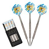 ONE80 Bavaria SG 24 Gram 90% Tungsten Steel Tip Darts with Solibox, Professional Dart Set