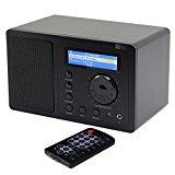 Ocean Digital Internet Radio WR220 WiFi Wlan Receiver Tuner Wireless Connection Music Media Player Desktop Alarm Clock- Black