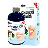 Oil Pulling Coconut Oil and Mouthwash: Excellent for Teeth Whitening, Dry Mouth, & Oral Detox - Helps Resolve Bad Breath and Removes Tea & Coffee Stains on Teeth - Risk Free Money Back Guarantee