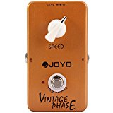 Outlife JOYO True Bypass Design Vintage Phase Electric Guitar Effect Pedal with Aluminum Alloy Material (YELLOW)