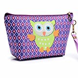 Owl Handbag Wristlet Cosmetic Bag Cell Phone Holder