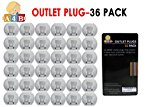 PLUG PROTECTORS-Outlet covers plug for electrical socket covers from All4baby 36 Pcs BUY NOW.