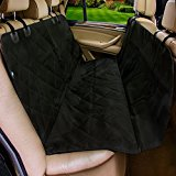 Pet Car Seat Cover for Cars, Moonsteps Waterproof Dog Hammock Seat Cover for Dogs, Cars Trucks Suv's & Vehicles, NonSlip Backing - Black
