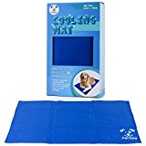 PetSpy  Pet Cooling Mat for Dogs and Cats with Chilly Gel Pad, Large
