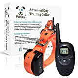 PetSpy Advanced Remote Dog Training Shock Collar for Dogs with Beep, Vibration and Electric Shocking, Rechargeable and Waterproof E-Collar Trainer