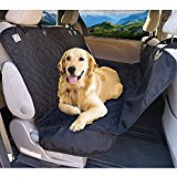 PetSpy Luxury Dog Car Seat Cover for All Vehicles with Side Flaps and Seat Anchors - Hammock Style, Machine Washable Non Slip and Waterproof