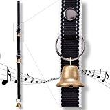 PetsLovers Dog Potty Training Doorbell Kit | Durable Reflective Nylon Ribbon & Brass Bell | For Barking, Housebreaking & More