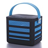 Portable Wireless Bluetooth Speaker with Built-In Powerbank Plus 2 USB Ports - Get Epic Audio Wherever You Go. (Blue)