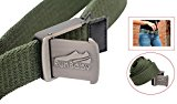 Premium Quality Expandable, Adjustable Web Belts by Run Baby for Men and Women (green)