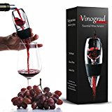 Premium Red Wine Aerator Decanter Set with DOUBLE BONUS Wine Accessories - Wine Gift Set Box for Wine Lovers, Women, Men by Vinograd
