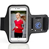 iPhone 6 PLUS Armband - iPhone 6S PLUS Armband - Premium - For Running and All Sports - Lightweight, Key Holder, Headphone Ports - From Blue Key World