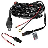 Primelux 12 Feet 16 Gauge LED Lights Wiring Harness Built-In Relay On/Off Switch | On or Off Road LED Bars Driving Lights Support | Trailer Truck Jeep Heavy Duty Wiring Harness Deutsch DT Connector