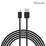 RUKINI USB Charger Cord Lightning MFI Charge and Sync Cable Bundle for iPhone 7/7 Plus 6/6s Plus 5/5s/5c, iPad mini/Air/Pro iPod Touch 2M Black