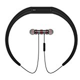 Ramzy Wireless Bluetooth Magnetic Neckband In-Ear Headphones with Built-In Microphone for Gym/Sports
