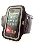 Relgard Sports Armband+Key Holder for iPhone 5/5S/5C, Ipod Touch 5 -Black