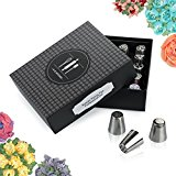 Russian piping tips set for cake decoration supplies - PREMIUM stainless steel 35 frosting flowers tip kit, DELUXE tulip cupcake decirating +bag -Bonus GIFT PACKAGE,Buttercream EBook,online videos >>&#8221; style=&#8221;max-width:100%;&#8221;></a></p></div><div class=