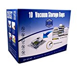 SPACO Jumbo & Large Vacuum Seal Storage Bags-Space Saver Storage Bags Works With Any Vacuum Cleaner + Free Pump(10 Bags Pack)