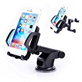 SUNDERPOWER Car Mount,Easy One Touch 3 Car Mount Holder for iPhone Galaxy S7 S6 LG and More Devices