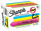 Sharpie Tank Highlighters, Chisel Tip, Assorted Colors, 12-Count