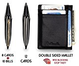 Slim Front Pocket Wallet RFID Card Holder Genuine Leather Minimalist Wallets