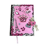 SmitCo LLC Diary With Lock - Blank Journal With Lock And Key And 300 Lined Pages In A Diva Design Includes 2 Keys To Keep Her Secrets Safe - For Ages 6 And Over