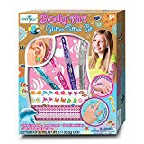 SmitCo LLC Kids Tattoo Kit - Temporary Fake Glitter Tattoos For Children - Includes Non Toxic Shimmer Metallic Stickers, Glitter Pens, Reusable Stencils, Earring and Ring Tattoos With An Ocean Theme