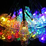 Solar String Lights 20 LED Waterproof Outdoor Small Bell Decoration Lighting,Holiday Festivals (Multi-color)