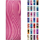 Soul Obsession Yoga Mat Microfiber Printed Design Breathe Believe Receive in Pink - Serenity