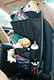 Spaco Multipurpose Backseat Organizer + Kids/Baby Travel Storage + Kick Mat Protectors+iPad and Tablet Holder (black)