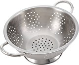 Stainless Steel Colander Strainer - Metal Kitchen Sink Pasta Drainer with Wide Grip Basket Handles to Strain Large Pots Noodles, Wash Berries, Fruits, Vegetables, Salads by Pro Chef Kitchen Tools