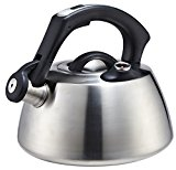 Stainless Steel Tea Kettle - Small Stovetop Model in Modern Brushed Finish by Pro Chef Kitchen Tools