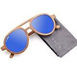 Super light Polarized sunglasses (Cherry Wood, Blue)