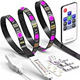 LED TV Backlight Strip JACKYLED 6.6Ft 60Leds USB Bias Monitor Lighting RGB 5050 SMD Changing Color Strip Kit Accent light Set For TV Desktop PC (Wireless remote controller)