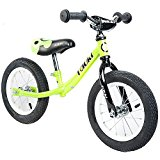 Tauki Kid Balance Bike No Pedal Push Bicycle, 12 Inch, Lime, for 18 Months-5 Years Old