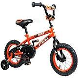 Tauki Kid Bike BMX Bike for Boys and Girls, 12 Inch, Orange, 95% assembled, for 2-5 Years Old