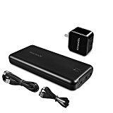 Tiergrade 22000mAh Power Bank with 2 Port Wall Charger and 2 Micro USB Cables Ultra Hight Capacity Portable Charger External Battery with High Speed Charging Technology
